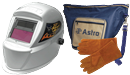ASTRO PNEUMATIC 8075SEDX Deluxe Solar ADF Welding Helmet with Free Welding Gloves & Bag
