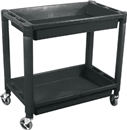 ASTRO PNEUMATIC 8330 HD PVC Utility Cart, 2 Shelf