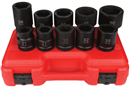 "ASTRO PNEUMATIC IS810M 10 Pc. 1"" Dr. Heavy Duty Impact Socket Sets, 6 Pt. - Metric"