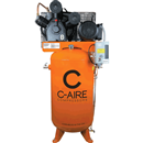 C-AIRE COMP. A075V080-3230FP 7.5 HP, Two-Stage Pump 80 Gal. Compressor