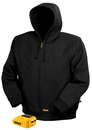 DEWALT DCHJ061B-S 20V / 12V MAX Lithium Ion Black Hooded Heated Jacket - Small