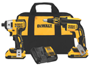DEWALT DCK261D2 20V MAX* XR Lithium Ion Cordless Drywall Screwgun / Impact Driver Kit (2.0Ah)