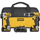 DEWALT DCK285L2 20V MAX Lithium Ion Compact Hammer Drill & Impact Driver Combo Kit
