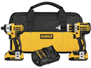 DEWALT DCK286D2 20V MAX XR Lithium Ion Brushless Compact Hammerdrill & Impact Driver Combo Kit