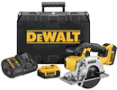 DEWALT DCS373M2 20V MAX Lithium Ion Metal Cutting Circular Saw Kit