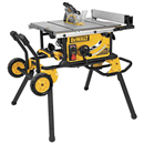 "DEWALT DWE7499GD 10"" Jobsite Table Saw with Guard Detect & Rolling Stand"