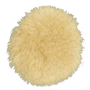 "DYNABRADE 90034 3-1/2"" Dia. Polishing Pad, Natural Sheepskin Wool"