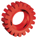 DYNABRADE 92255 Red-Tred™ Eraser Wheel