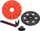 DYNABRADE 92295 Red-Tred™ Eraser Disc with hub