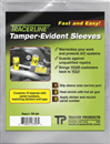 TRACER PRODUCTS TP-30 10 Pc. Tamper-Evident Sleeves