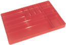 ERNST 5010 10 Compartment Organizer Tray -- Red