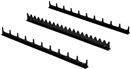 ERNST 6011M 3 Pc. 20 Tool Screwdriver Rail Set with Magnetic Tape - Black