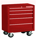"EXTREME TOOLS EX2605RCRD 26"" 5 Drawer Roller Tool Cabinet - Red"