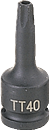 "GREY PNEUMATIC 1150TT 3/8"" Dr. x TT50 Tamper Proof Star Dr."