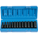 GREY PNEUMATIC 1213MD 13 Pc. 3/8'' Drive Deep Length Metric Set