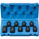 "GREY PNEUMATIC 1319ET 9 Pc 1/2"" Drive External Star Socket Set"