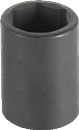"GREY PNEUMATIC 2008M 1/2"" Dr. 8mm Standard Impact Socket"