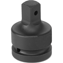 "GREY PNEUMATIC 4008A 1"" Female x 3/4"" Male Adapter with Pin Hole"