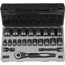 "GREY PNEUMATIC 82222 22 Pc. 1/2"" Drive 12 Pt. Standard Duo-Socket Set"