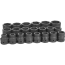 "GREY PNEUMATIC 9021 21 Pc. 1"" Dr. Standard SAE Socket Set"