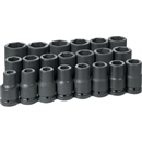 "GREY PNEUMATIC 9021D 21 Pc. 1"" Dr. Deep SAE Socket Set"