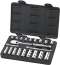 "GEARWRENCH 80557 21 Pc. 3/8"" Drive SAE Socket Set, Standard/Deep"