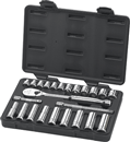 "GEARWRENCH 80559 24 Pc. 3/8"" Drive Metric Standard & Deep Socket Set"