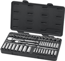 GEARWRENCH 83000 68 Pc. SAE/Metric Socket Set - 84 Tooth Ratchet