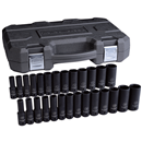 "GEARWRENCH 84949N 27 Pc. 1/2"" Drive 6 Point SAE/Metric Deep Impact Socket Set"