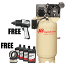IR COMPRESSOR 45465408P Two-Stage Type 30 Value Package, 80 Gallon Vertical