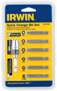 IRWIN 3057003DS 7 Pc. Quick Change Bit Set