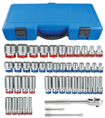 "KING TONY A3505CR 47 Pc. 3/8"" Dr. SAE & Metric Socket Set, 6 Pt."