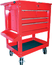 K TOOL INT'L 75140 Tool Service Utility Cart - 4 Drawer Heavy Duty Red