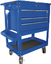 K TOOL INT'L 75141 Tool Service Utility Cart - 4 Drawer Heavy Duty Blue