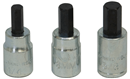 LISLE 12550 3 Pc. Brake Caliper Bit Set
