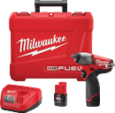 "MILWAUKEE ELEC. 2454-22  M12 Fuel™ 3/8"" Impact Wrench Kit"