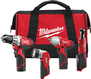 MILWAUKEE ELEC. 2493-24 M12™ 4 Tool Combo Kit