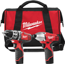 MILWAUKEE ELEC. 2497-22 M12™ Cordless LITHIUM-ION Combo Kit