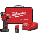 "MILWAUKEE 2552-22 M12 FUEL™ 1/4"" Stubby Impact Wrench Kit"