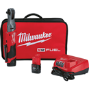 "MILWAUKEE ELEC. 2557-22 3/8"" M12 FUEL™ Ratchet Kit with (2) Batteries"