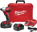 "MILWAUKEE ELEC. 2657-22 M18™ 2-Speed 1/4"" Hex Impact Driver Kit"
