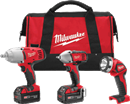 MILWAUKEE ELEC. 2696-23 M18™ Cordless 3-Tool Combo Kit
