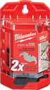 MILWAUKEE 48-22-1952 50 Pc. Hook Utility Knife Blades with Dispenser