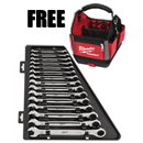 MILWAUKEE 48-22-9516PK10 15 Pc. Metric Ratcheting Combination Wrench Set