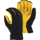 MAJESTIC GLOVE 1664/10 Winter Lined Deerskin Drivers Glove, Large