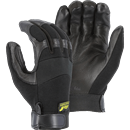 MAJESTIC GLOVE 2151/10 Black Hawk Mechanics Glove with Deerskin Palm and Stretch Knit Back, Large