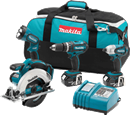 MAKITA U.S.A. LXT405 18V LXT Lithium-Ion Cordless 4-Pc. Combo Kit