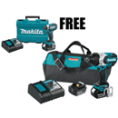 "MAKITA U.S.A. XWT07XP 18V LXT® Brushless High Torque 3/4"" Sq. Dr. Impact Wrench Kit with Friction Ring Anvil"