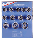 OTC TOOLS 9852 12 Pc. Wheel Bearing Locknut Sockets S Tool Board