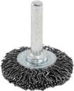 "SHARK INDUSTRY 14027 1-1/2"" Crimped-Round Coarse Wire Brush, 1/4"" Shaft"